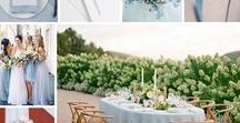 Blue Bell Pantone Wedding / We love Blue Bell, one of the 2017 Autumn Pantone colours – a tranquil blue that reflects connection and a soothing sense of peace.  We love this soft blue that would be a perfect accent to any wedding.  Here is a collection of some of our favourite inspiration ideas for incorporating this shade into your wedding – have you been inspired?