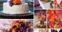 Plum and Orange Autumn Wedding / Shades of orange and plum create the perfect team for an Autumn wedding, add some depth with charcoal grey tones