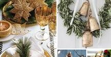 Gold Themed Christmas / If you like your Christmas decor to have a theme, we love these ideas for a gold inspired Christmas, from gold decorations to a gold themed Christmas table – have you been inspired?