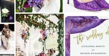Ultra Violet Wedding / Will you be an Ultra Violet bride in 2018?  Pantone, the colour authority, have released their colour of the year for 2018, and according to them, Ultra Violet communicates originality, ingenuity, and visionary thinking.  Whether you're a purple fanatic or want to follow the trend, here are some ideas to incorporate this colour into your special day.