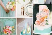 Lemon, Mint and Coral Inspired Wedding / Mint and lemon are a perfect colour scheme for any wedding and throw in some coral and you've added pops of colour for a sophisticated wedding.