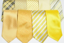 Yellow Ties & Neckties / Inspiration board with pins on yellow neckties and bow ties. See our latest yellow tie collections, get style inspiration on how to wear your yellow necktie in any season. / by Bows-N-Ties | Inspiration for Men's Ties, Bow Ties, & Neckties