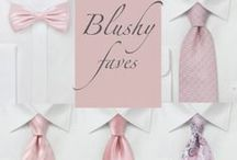 Wedding Color Inspiration - Blush / Wedding color inspiration for Blush and soft pink. See wedding gowns, bridesmaids dresses, neckties, bow ties, table decor, floral arrangements all in color blush pink. / by Bows-N-Ties | Inspiration for Men's Ties, Bow Ties, & Neckties