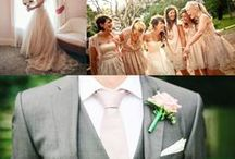 Wedding Color Inspiration - Champagne / Champagne colored wedding inspiration. Get ideas on flowers, table decor, groomsmen accessories, bridal party attire, and more matching an elegant Champagne palette. / by Bows-N-Ties | Inspiration for Men's Ties, Bow Ties, & Neckties