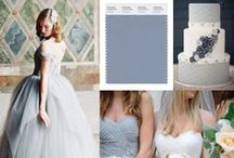 Wedding Color Inspiration - Dusty Blue / Tie the Knot in a palette of gorgeous blues. Get ideas on flower arrangements, wedding invitations, groomsmen neckties and bow ties, bridesmaids dresses, and more all in color dusty blue. / by Bows-N-Ties | Inspiration for Men's Ties, Bow Ties, & Neckties