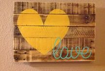 Wood signs  and projects (with Pallets and Silhouette) / Al things wood! Made mostly with silhouette machine to cut templates and stencils. Many how-to instructions as well. / by Marcie G