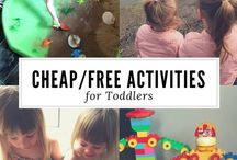 Cheap and FREE Toddler Activities / Whether it's raining or sunny, toddler and pre-schoolers need plenty of activities to keep them occupied. I've put together board of my favourite free and cheap activities that my children love to do or want to try.