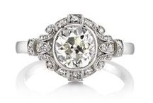Vintage Engagement Rings / Vintage inspired engagement rings of old world styling and beautifully cut antique diamonds!