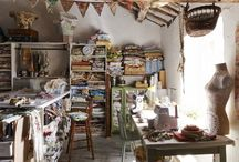 Craft space / Details, ideas and inspiration for a pretty and productive craft space.