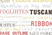 Fonts / by Marcie Curtis