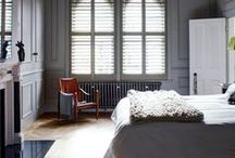 Bedroom Shutters | TNESC / Whether for a master bedroom with large bay windows, or for a baby's nursery, TNESC shutters can be made in any colour or finish to complement the style of your room. Black­out blinds can also be fitted to provide more light exclusion if required.