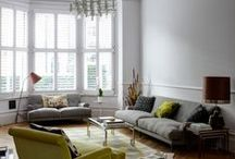 Living Room Shutters | TNESC / Living room shutters are a perfect solution for bay or sash windows, providing privacy, infinitely adjustable light and a stylish alternative to curtains and blinds whatever your interior style.