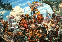 Josh Kirby / As a longtime Discworld fan, of course I love the original artwork that for so many of us define the series. Josh was also a personal friend of mine for two years until his death in 2001 (too soon). He was a great artist.