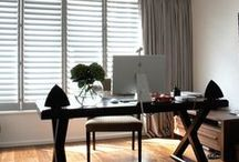 Office Shutters | TNESC / Solid wood shutters are the perfect solution for windows, providing privacy, insulation, infinitely adjustable light and a stylish alternative to curtains.