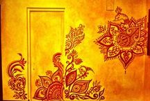 Murals by Mary Schmaling Kearns from The Eye Of Henna / Home interior painting and murals