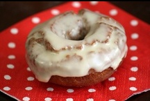 """Time to Pin the Doughnuts! / Glazed or sugar-coated, baked or fried, oblong, round or square -- whether you spell them """"donuts"""" or """"doughnuts"""", these treats deserve a board all to themselves.  I'll bring the coffee! / by Peanut Butter and Julie"""