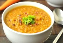 Soup's On!! / I make big batches of soup year-round.  A cup or a bowl serves as the perfect easy lunch, comforting dinner or light but filling meal.  Here is a collection of my favorites (or soon to be favorites!) / by Peanut Butter and Julie