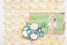 Embellish background / creating your own background designs and embellishments for scrapbook layouts