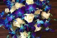 Brides Bouquet - Blue / Blue Floral Bridal Bouquets