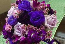 Brides Bouquet - Purple
