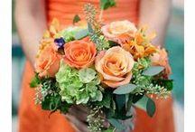 Bridesmaid Bouquet - Orange
