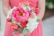 Bridesmaid Bouquet - Coral