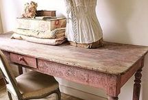 Tables of all sorts / Tables of  of shapes and sizes, my weakness are the beautiful natural weathered sort