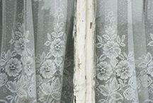 Lace Curtains / The beauty of lace curtains, especially when blowing in a Summer breeze