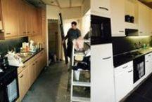 Annie Sloan Chalk Paint voorbeelden keukens / Voorbeelden van Annie Sloan verf op keukens, keukenkastjes, fineer keukens, allemaal gedaan met de enige echte Annie Sloan Chalk Paint. En dat zonder schuren of gronden.