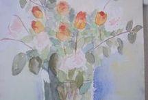 Watercolours and studio
