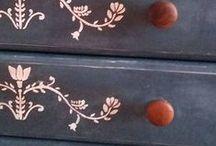 Annie Sloan stencils / Annie Sloan stencils - sjablonen - verfsjablonen geweldig als decoratie in combinatie met Annie Sloan Chalk Paint