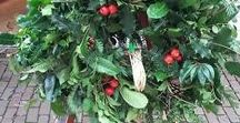 Wild Winter wreaths / Love making wreaths  from natural materials from the  hedgerows  and green foliage and berries gathered from the countryside