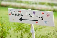 wedding stationery, signs, banners and such