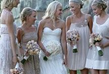 Wedding gowns, accessories, rings and hairstyles