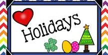 Teaching the Holidays {Gr.3-5} / Teaching materials the focus on curriculum and standards during the holidays for grades 3, 4, and 5