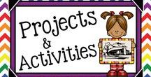 Teaching With Projects & Activities {Gr.3-5} / Teaching projects and activities for grades 3-5