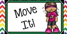 Get Up & Move Ideas {Gr.3-5} / Ideas to get kids up and moving during the school day!  Brain Breaks, exercises, active games, stretches, etc.