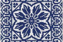 blue-n-white blanket
