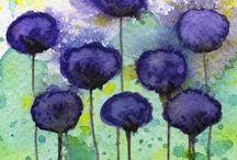 art: flowers&feathers