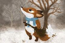 Kuvitteluja (My works) / My own illustrations