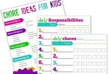 Cleaning for Kids / Get your kids to clean! Printables, organization ideas, and chore charts for kids.