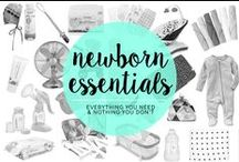 Newborn Essentials / So you just had a baby? Here are some ideas to get your baby to sleep, essentials that every baby needs, and activities to try with your new baby.
