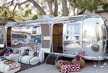 GLAMPING / Airstreams, Caravans, Vans & generally road-tripping and camping in comfort and style