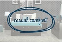 Casual Comfort / Casual Comfort is all about oversized, relaxed and laid-back furniture that is both cozy and functional. Plush pillows, easy to clean materials and neutral bases with patterned accents are staples of this look. The inviting feel of these basic pieces are ideal for everyday living.  Kick up your heels and get comfortable.