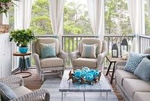 Summer Home / Embrace the season with summery style! Botanical accents, weather-resistant fixtures, and splashes of color create perfect indoor/outdoor spaces.