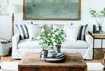 Farmhouse Chic / Farmhouse chic interiors are where rustic meets modern, cozy meets bright and open, and best of all - plenty of rural charm!