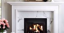 """Fireplaces / """"We no longer build fireplaces for physical warmth - we build them for the warmth of the soul; we build them to dream by, to hope by, to home by."""" - Edna Ferber"""