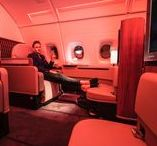 Flying First Class: Glamorous / This board showcases snapshots from inside the world's most glamorous first and business class cabins. Click the images to see posts that outline how to fly up front for (almost) nothing!