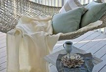 Coastal Style / Welcome the sun and the sea into your home with distressed wood furniture, calming muted colors, and lighting and home accessories with touches of driftwood and shells straight from the ocean.