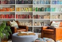 """Lovely Libraries / """"A room without books is like a body without a soul."""" - Marcus Tullius Cicero  """"You can never get a cup of tea large enough or a book long enough to suit me."""" - C.S. Lewis"""